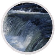 A Small Waterfall Round Beach Towel
