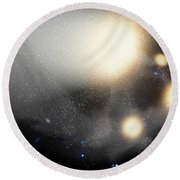 A Smash-up Of Galaxies Round Beach Towel