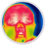 A Thermogram Of A 5 Month Old Baby Round Beach Towel