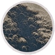 A Thousand Suns - Ring Of Fire Eclipse 2012 II Round Beach Towel