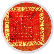 A Total Burst Of The Heart Round Beach Towel