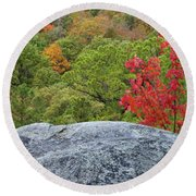 A Touch Of Fall Round Beach Towel