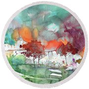 A Town On Planet Goodaboom Round Beach Towel