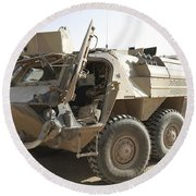 A Tpz Fuchs Armored Personnel Carrier Round Beach Towel