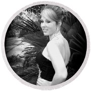 A True Belle Round Beach Towel