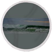 A Turbulent Sea On A Stormy Morning 2 Round Beach Towel