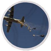 A U. S. Air Force C-130 Hercules Round Beach Towel