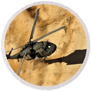 A Uh-60 Black Hawk Helicopter Comes Round Beach Towel