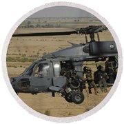 A U.s. Air Force Hh-60 Pavehawk Flies Round Beach Towel