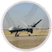 A U.s. Air Force Mq-9 Reaper Unmanned Round Beach Towel