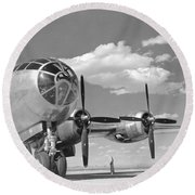 A U.s. Army Air Forces B-29 Round Beach Towel