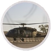 A U.s. Army Medevac Uh-60 Black Hawk Round Beach Towel