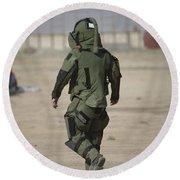 A U.s. Marine Tries Running In A Bomb Round Beach Towel