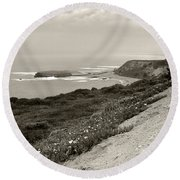 A View Central California Coast Round Beach Towel