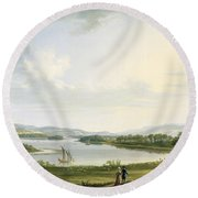 A View Of Knock Ninney And Part Of Lough Erne From Bellisle - County Fermanagh  Round Beach Towel