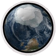 A View Of The Earth With The Full Round Beach Towel