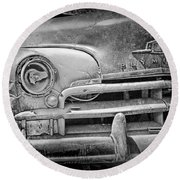 A Vintage Junk Plymouth Auto Round Beach Towel