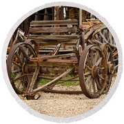 A Wagon And Wheels Round Beach Towel