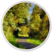 A Walk Amongst Nature Round Beach Towel