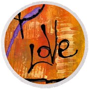 A Whirlwind Called Love Round Beach Towel
