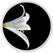 A White Lily Round Beach Towel
