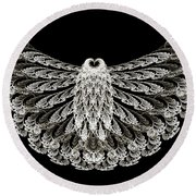 A Wise Old Owl Round Beach Towel