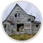 Abandoned House Round Beach Towel