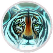 Abbagail's Haunt Round Beach Towel by Adele Moscaritolo