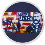 Abbott Kinney 2 Round Beach Towel