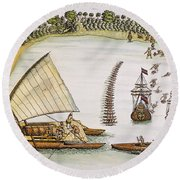 Abel Tasman Expedition 1643 Round Beach Towel