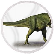 Abelisaurus Comahuensis, A Prehistoric Round Beach Towel