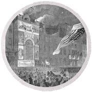Abolition Of Slavery, 1864 Round Beach Towel
