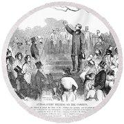 Abolition: Phillips, 1851 Round Beach Towel