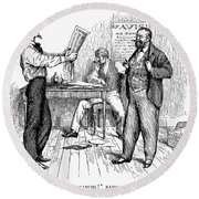 Abolitionist Newspaper Round Beach Towel