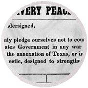 Abolitionist Peace Pledge Round Beach Towel