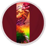 Above And Beyond Round Beach Towel