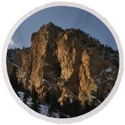 Above Red River I Round Beach Towel