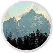 Above The Tree Line Round Beach Towel