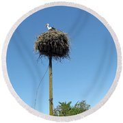 Above The Tree Tops Round Beach Towel