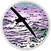 Above The Waves Round Beach Towel
