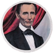 Abraham Lincoln, Republican Candidate Round Beach Towel by Photo Researchers