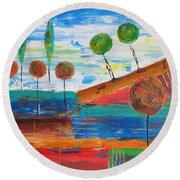 Abs 0455 Round Beach Towel