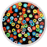 Abs 0462 Round Beach Towel