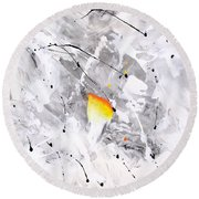 Abstraction 477-2013 Round Beach Towel