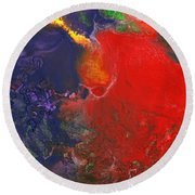 Abstract - Crayon - Andromeda Round Beach Towel