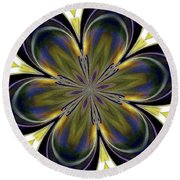 Abstract 004 Round Beach Towel