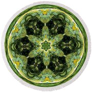 Abstract 007 Round Beach Towel