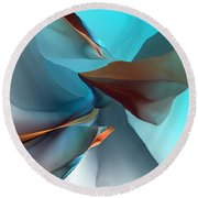 Abstract 011612 Round Beach Towel