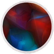Abstract 012712 Round Beach Towel