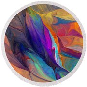 Abstract 021212 Round Beach Towel